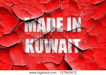 Grunge cracked Made in kuwait