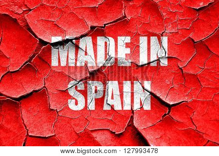 Grunge cracked Made in spain