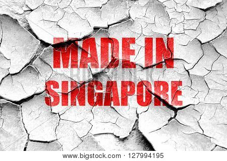Grunge cracked Made in singapore