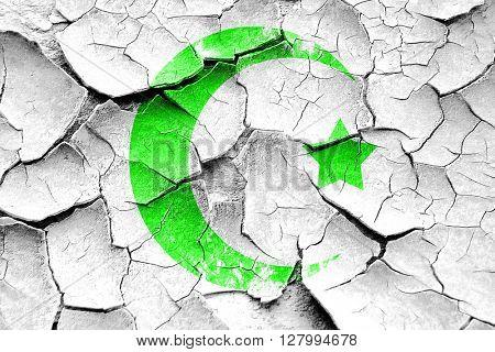 Grunge cracked Islam faith symbol