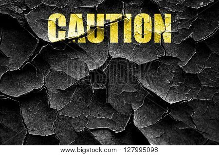 Grunge cracked Empty warning sign