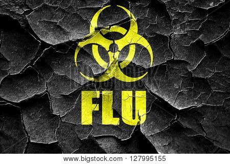Grunge cracked Influenza virus concept background