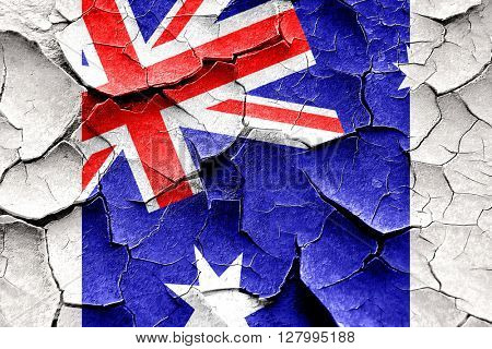 Grunge cracked Australia flag
