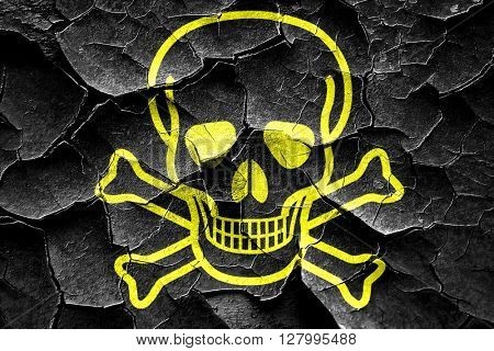 Grunge cracked Poison sign background