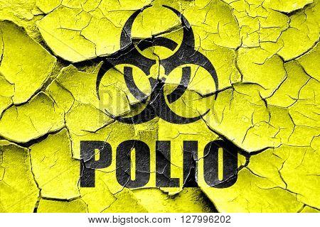 Grunge cracked Polio concept background