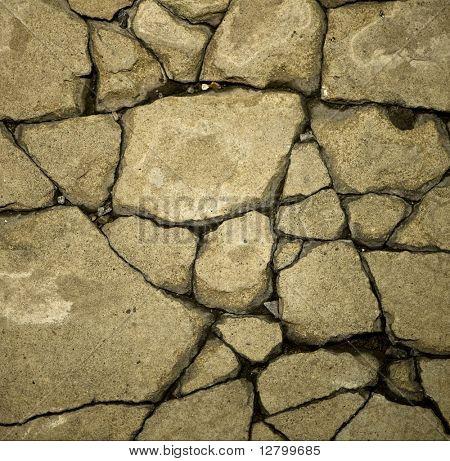 Close-up of Craquelure in concrete