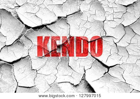 Grunge cracked kendo sign background