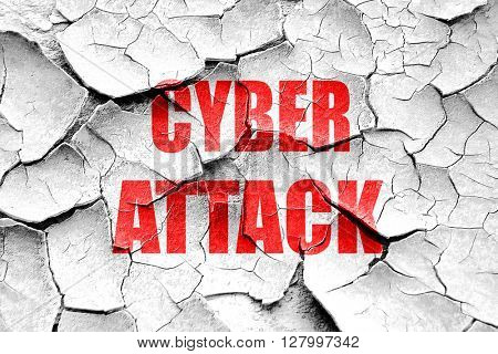 Grunge cracked Cyber attack background