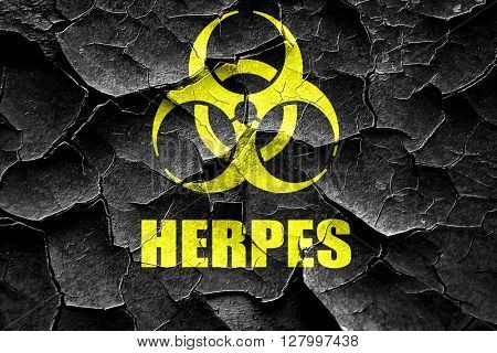 Grunge cracked Herpes virus concept background