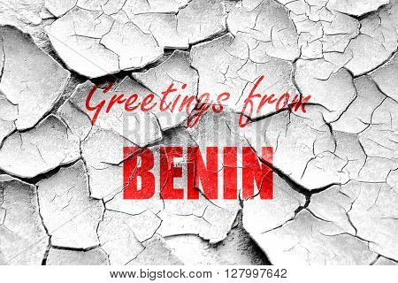Grunge cracked Greetings from benin