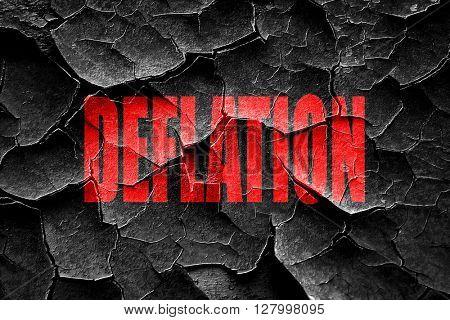 Grunge cracked Deflation sign background