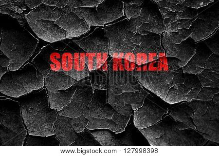 Grunge cracked Greetings from south korea