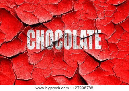 Grunge cracked Delicious chocolate sign