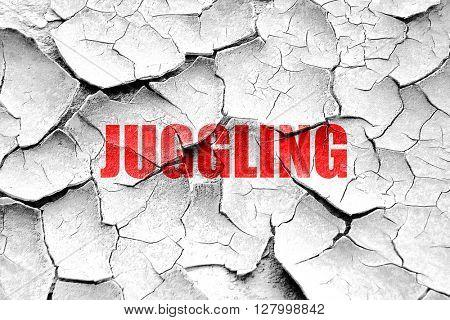 Grunge cracked juggling sign background
