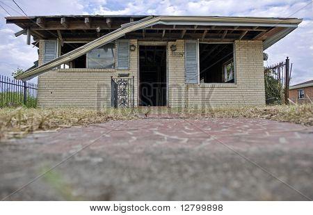 Destructed House after Hurricane Katrina, New Orleans, Louisiana