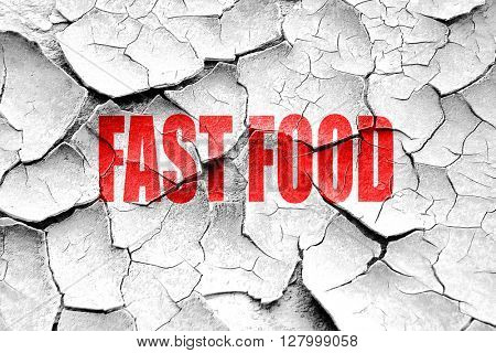 Grunge cracked Delicious fast food