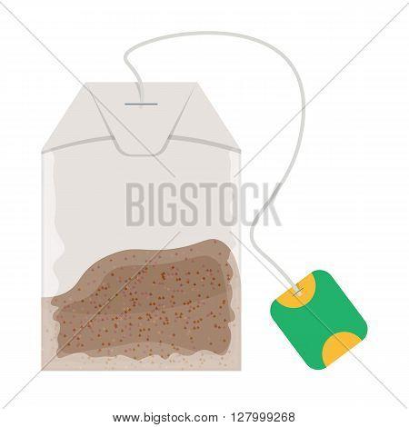 Teabag vector illustration isolated on white background
