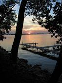 Beautiful Summer Sunset On Lake poster