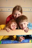 pic of bunk-bed  - happy children in child - JPG
