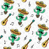 Постер, плакат: Mexican Seamless Pattern