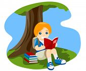 foto of reading book  - Child reading Book  - JPG