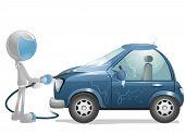 image of car wash  - 3D Vector Robot - JPG