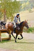 Triathlon in Russia, horseback jumping