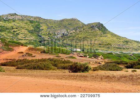 Es Pla Vermell and Binimela coast in Menorca, Balearic Islands, Spain