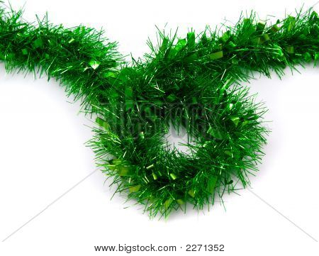 Green Tinsel Christmas Decoration