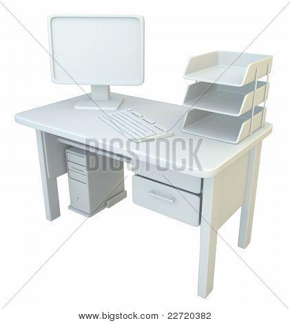 Pc Desk, White