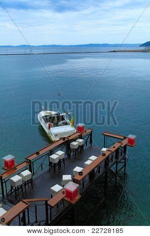 Sea cafe in Neos Marmaras, Chalkidiki, Greece