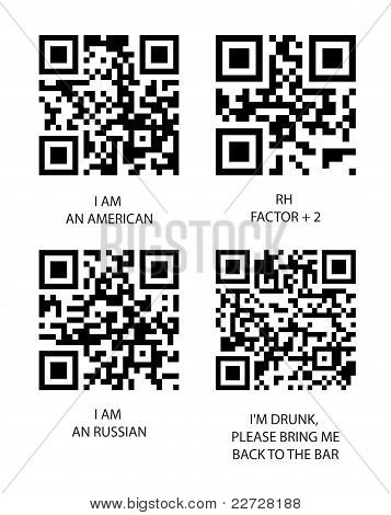 Qr and bbm code. Vector set