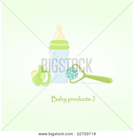 Baby products, vector illustration