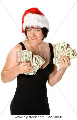 Female And Her Cash