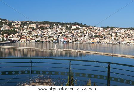 City of Argostoli at Kefalonia, Greece