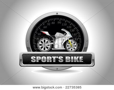 vector sport bike in speedometer