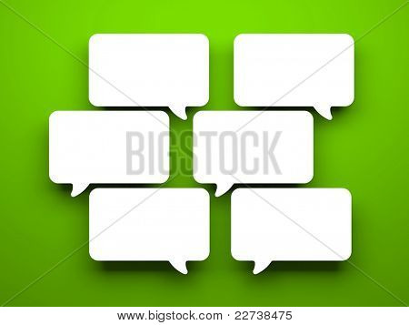 Communication concept. Isolated on white