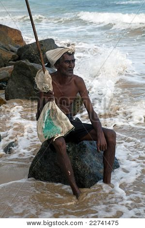 Old man from Sri Lanka