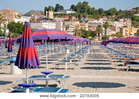 Urban Sand Beach On Sicily