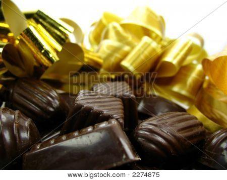Christmas Chocolate Isolated On White