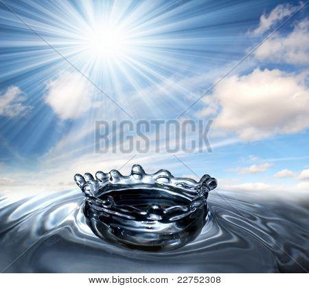 water drop splash crown