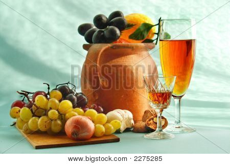 Wine And Appetizer
