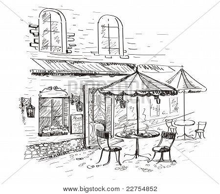 Straße Café