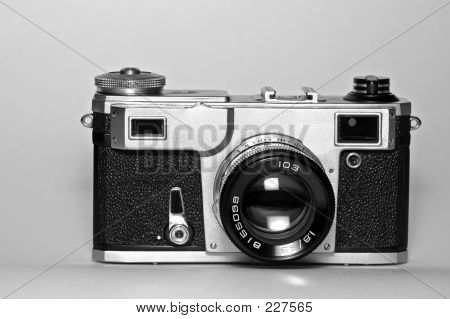 Old Range-finder Soviet Camera (front View)