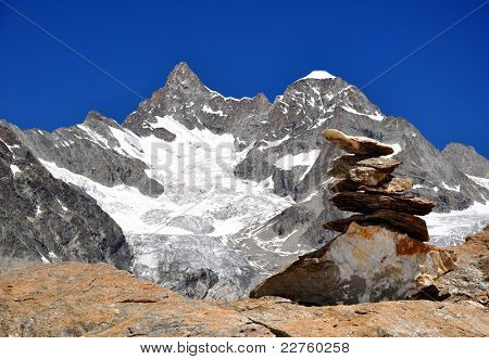 Beautiful mountain Ober Gabelhorn-Swiss Alps