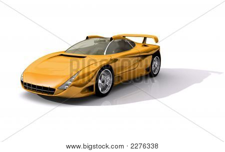 Yellow Sports Concept Car