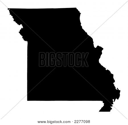 Mapa do Missouri, EUA