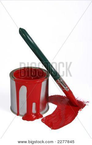 Paint Tin And Brush