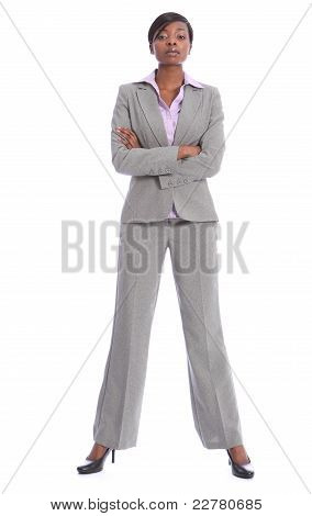 Serious African American Woman In Business Suit