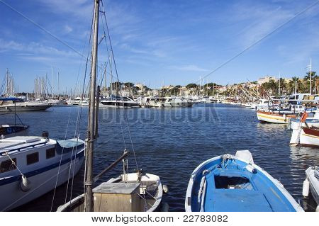 The Port Of Bandol In French Riviera